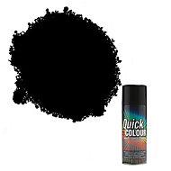 Rust-Oleum Quick colour Black Gloss Multi-surface Spray paint, 400ml