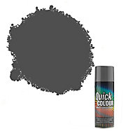 Rust-Oleum Quick colour Grey Gloss Multi-surface Spray paint, 400ml