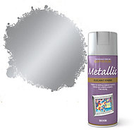 Rust-Oleum Silver effect Multi-surface Spray paint, 400ml