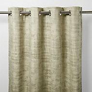 Ruvor Beige Abstract Blackout Eyelet Curtain (W)117cm (L)137cm, Single