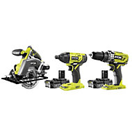 Ryobi ONE+ 18V 2Ah Li-ion Cordless 3 piece Power tool kit R18PDID2CSP-220S