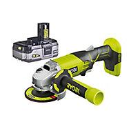 Ryobi ONE+ 18V 3Ah 115mm Cordless Angle grinder 1 battery R18AG-130S