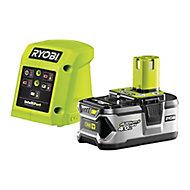 Ryobi One+ 18V 4.0Ah Li-ion Battery & charger