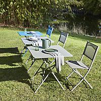 Saba Moroccan blue Metal Chair