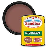 Sandtex Brick red Masonry paint, 5L