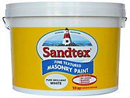 Sandtex Pure brilliant white Textured Masonry paint, 10L