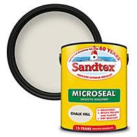 Sandtex Ultra smooth Chalk hill brown Masonry paint, 5L