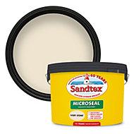 Sandtex Ultra smooth Ivory stone Masonry paint, 10L