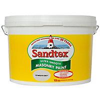 Sandtex Ultra smooth Plymouth grey Masonry paint, 10L