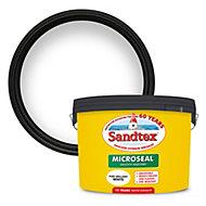 Sandtex Ultra smooth Pure brilliant white Masonry paint, 10L