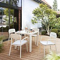 Santorin Metal 4 seater Dining set