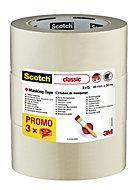 Scotch Beige Masking Tape (L)50m (W)48mm, Pack of 3