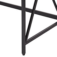 Seponi Matt walnut effect Folding desk (H)75cm (W)80cm (D)45cm
