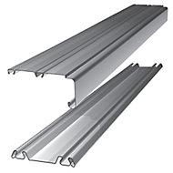 Shaker Silver effect Sliding wardrobe door track (L)2692mm