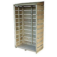 Shire Pressure treated Wooden Tall Log store