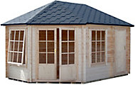 Shire Rowney 14x10 Apex Tongue & groove Wooden Cabin