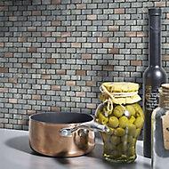 Shoreditch Copper effect Natural stone Mosaic tile sheet, (L)298mm (W)304mm