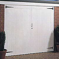 Side hung Garage door pair, (H)2134mm (W)2134mm