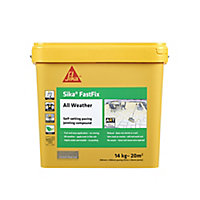 Sika FastFix Ready mixed Quick dry Deep Grey Jointing compound, 14kg Plastic tub