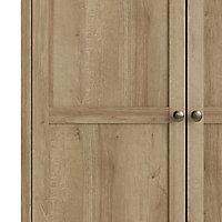 Silkeborg Traditional Matt riviera oak effect Triple Wardrobe (H)2022mm (W)1536mm (D)601mm
