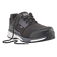 Site Agile Black Safety trainers, Size 8