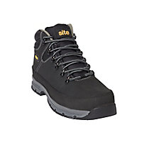 Site Bronzite Unisex Black & charcoal grey Safety boots, Size 12