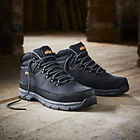 Site Bronzite Unisex Black & charcoal grey Safety boots, Size 7