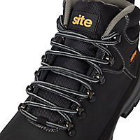 Site Bronzite Unisex Black & charcoal grey Safety boots, Size 8