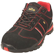 Site Coltan Black & Red Safety trainers, Size 8
