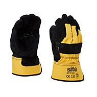 Site Cotton & leather Rigger Gloves, X Large