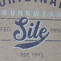 Site Graphic Grey T-shirt X Large