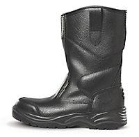 Site Gravel Black Rigger boots, Size 10