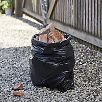 Site Heavy duty Black Rubble sack, 50L
