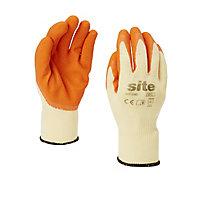 Site Latex & polycotton blend Gloves, Medium