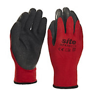 Site Latex & polyester (PES) Gripper Gloves, Large