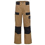"Site Pointer Black & stone Men's Trousers, W36"" L32"""