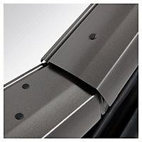 Site Premium Anthracite Aluminium alloy Centre pivot Roof window, (H)980mm (W)780mm