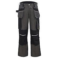 "Site Tanuki Black & grey Trousers, W34"" L32"""