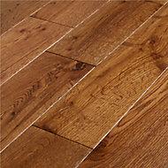 Skara Natural Oak Solid wood Flooring Sample