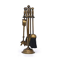 Slemcka Metal 5 piece Fireplace companion set