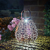 Smart Solar Bronze effect Pear Solar-powered LED Outdoor Lantern