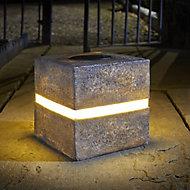Smart Solar Grey Cube Solar-powered LED Outdoor Ground light
