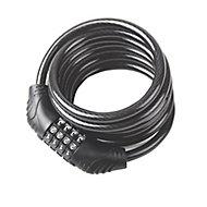 Smith & Locke Black Steel Combination Cable lock (L)0.65m