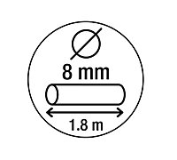 Smith & Locke Black Steel Cylinder Cable lock (L)1.8m