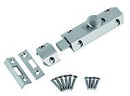 Smith & Locke Chrome effect Brass Surface Door bolt (L)102mm