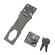 Smith & Locke Steel Hasp & staple, (L)150mm (W)45mm