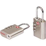 Smith & Locke Zinc & Steel Open shackle Combination Padlock (W)30mm, Pack of 2