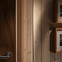 Smooth Natural Pine Angled edge Softwood Moulding (L)2.4m (W)13mm (T)13mm 0.17kg