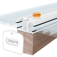 SNAPA White PVC Glazing bar, (L)4m (W)45mm (T)25mm