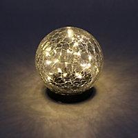 Solar Black Solar-powered LED Outdoor Table lamp